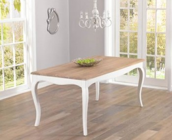 Tuscany Acacia and Ivory Dining Table