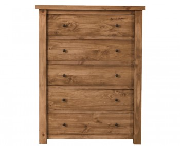 Augusta Honey Pine 5 Drawer Chest