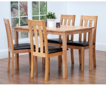 Avoriaz Oak Dining Table and Chairs