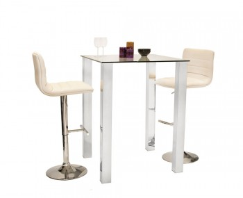 Barletto Glass Bar Table Set