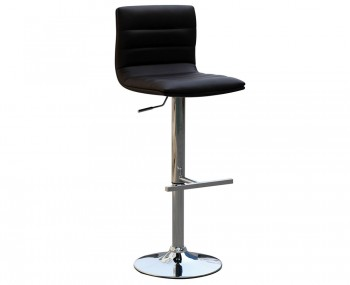 Barletto Black Faux Leather Bar Stool