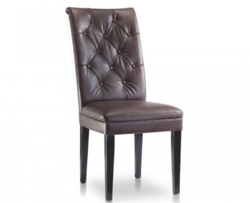 Ryarsh Brown Faux Leather Dining Chairs