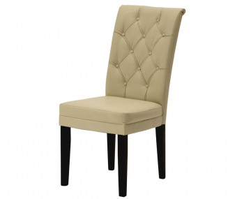 Ryarsh Ivory Faux Leather Dining Chairs