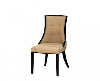 Amida Beige Faux Leather Dining Chairs