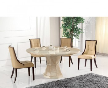 Radleigh Marble Round Dining Table and Chairs