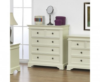 Woodstock Ivory 5 Drawer Chest