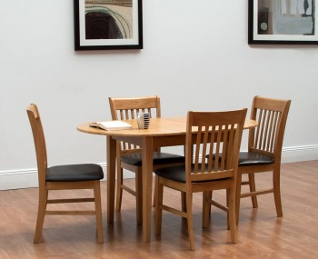 Sabine Oak Extending Dining Table and Chairs