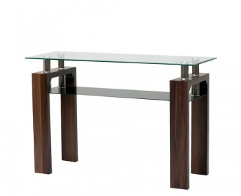 Burnbury Walnut and Glass Console Table