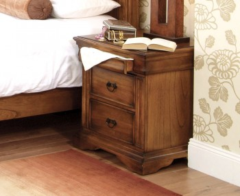 Hermione Antique Oak Bedside Chest