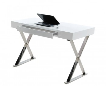 Casone White High Gloss Desk