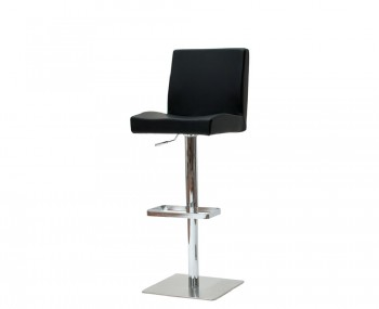 Henfield Black Faux Leather Bar Stool