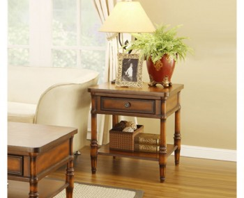Richmond Antique Walnut Lamp Table