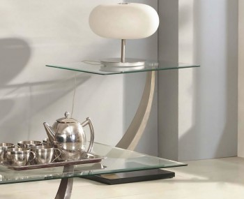 Piper Glass Lamp Table