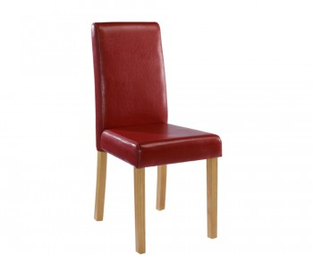 Foxton Red Faux Leather Dining Chairs