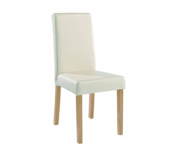 Foxton Cream Faux Leather Dining Chairs