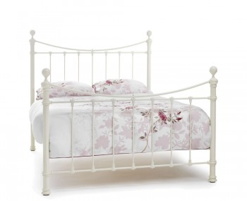 Ethan Ivory Gloss Metal Bed Frame