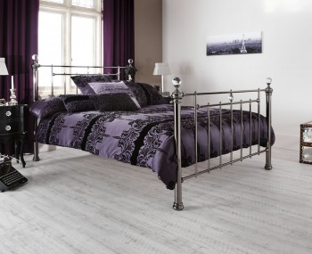 Clara Black Nickel Metal Bed Frame
