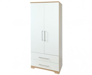 Chiltern 2 Door White & Oak Effect Wardrobe with Drawers
