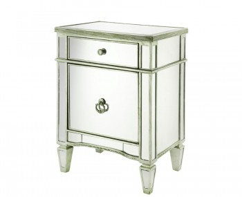 Annaba Mirrored Bedside Cabinet