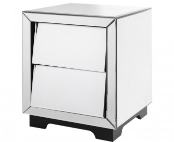 Kaprun Mirrored 2 Drawer Bedside Chest