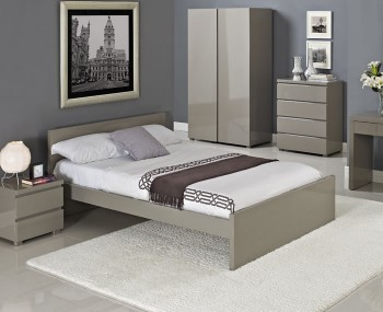 Puro Stone High Gloss Bed Frame =