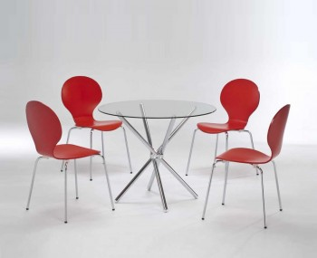 Casa Round Glass Kitchen Table and Chairs