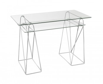 Fuse Clear Glass Computer Desk