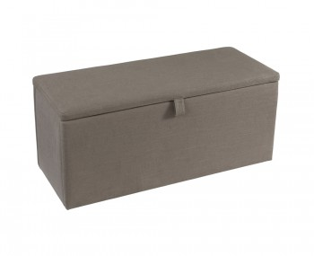 Abbey Fossil Grey Upholstered Ottoman