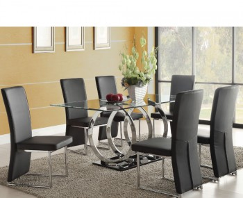 Athens Clear Glass Dining Table and Chairs