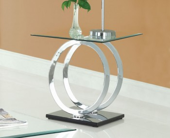 Athens Clear Glass Lamp Table