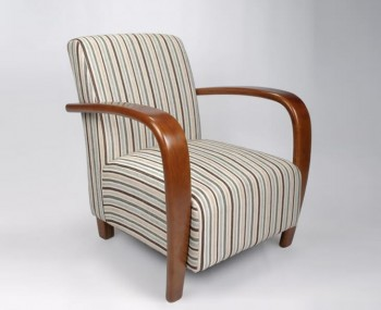 Camber Duck Egg Blue Striped Fabric Arm Chair