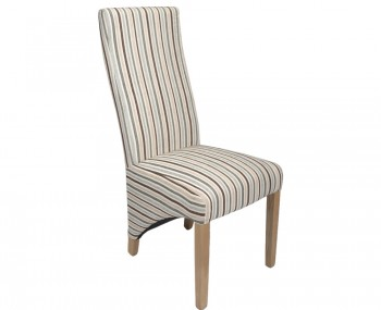 Tenterden Duck Egg Blue Striped Fabric Dining Chairs