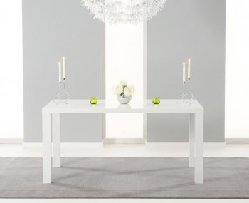 Earlham Large White High Gloss Dining Table