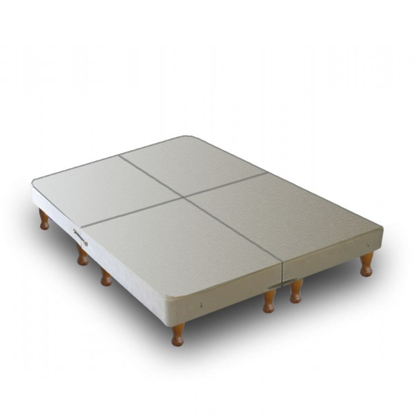 Warwick divan base only on legs 4 parts for Queen divan bed base