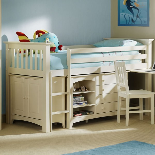 Cameo off white kids sleep station 10 day express uk for Beds express delivery