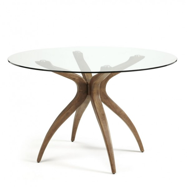 Glass Coffee Tables Gumtree Adelaide: Adelaide Round Glass And Walnut Dining Table