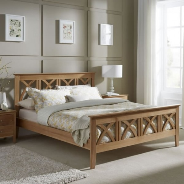 Faith Oak Bed Frame Frances Hunt