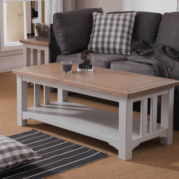 Everett Coffee Table: Everette Two-Tone Coffee Table