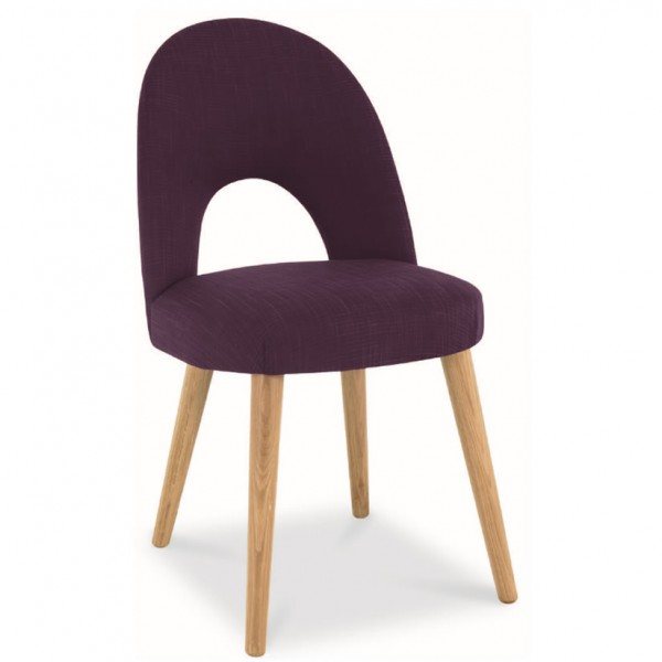 Orbit Plum Upholstered Dining Chair