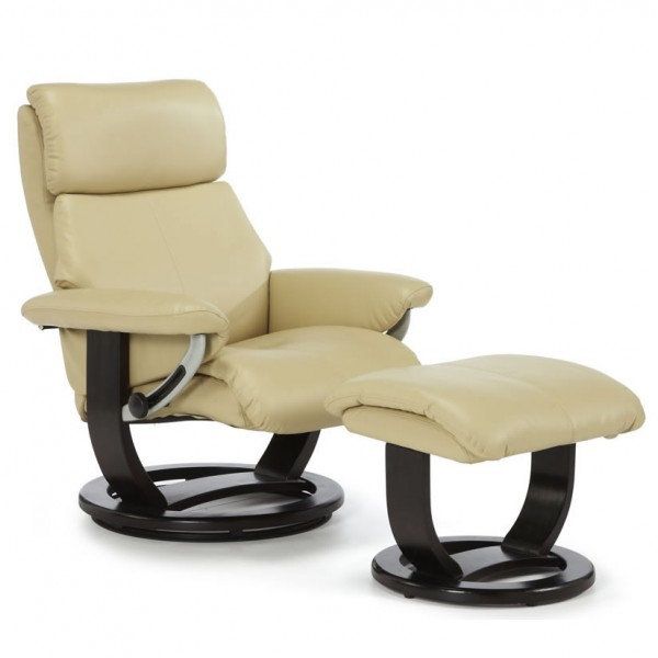 ivalo cream bonded leather recliner chair frances hunt