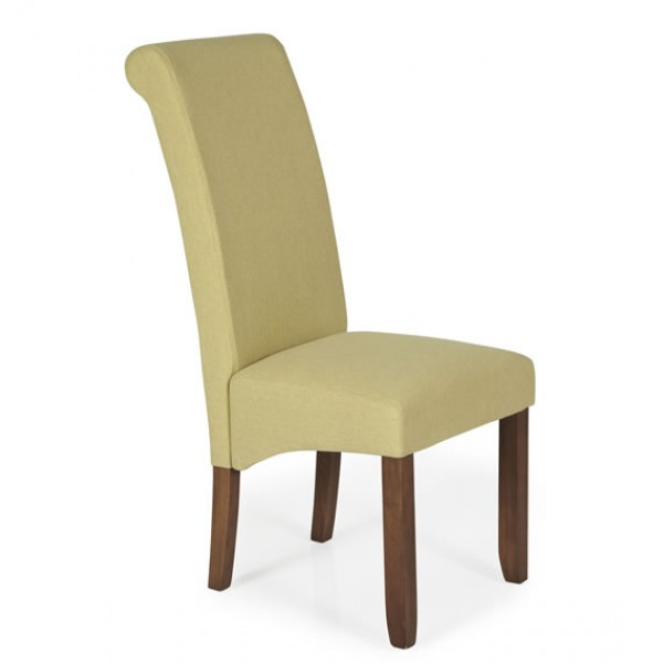 Barnstable Mustard Fabric and Walnut Dining Chairs  : 127731 from www.franceshunt.co.uk size 600 x 600 jpeg 21kB