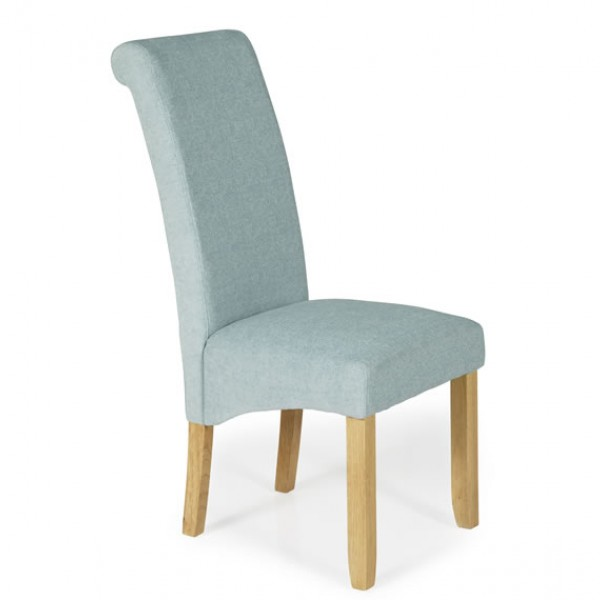 barnstable duck egg fabric and oak dining chairs frances hunt