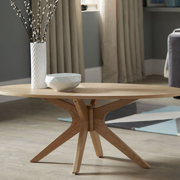 Oval Oak Coffee Table Uk: Bedford Oval Oak Coffee Table
