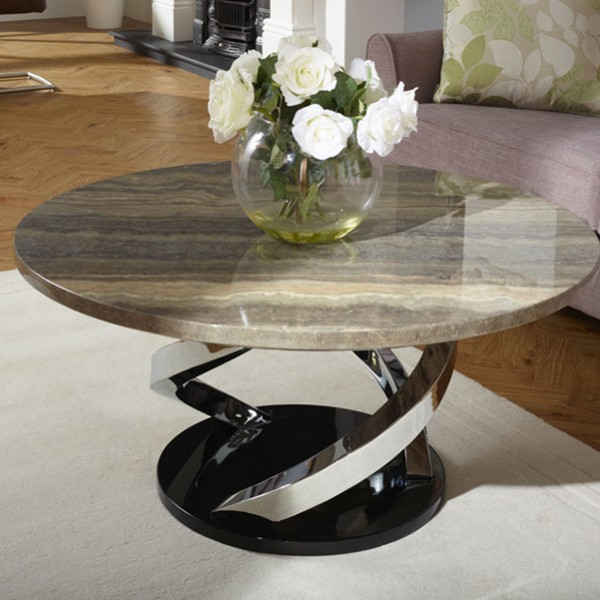 Marble Effect Coffee Table Uk: Pandora Marble Effect Coffee Table
