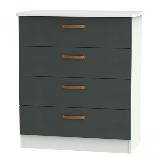wardrobes for bedroom castle graphite and copper 4 drawer chest 13787