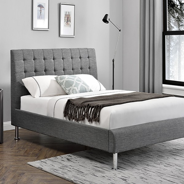 Lyra charcoal upholstered bed frances hunt for Divan frances