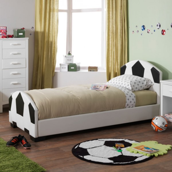 Portello Childrens Faux Leather Football Bed
