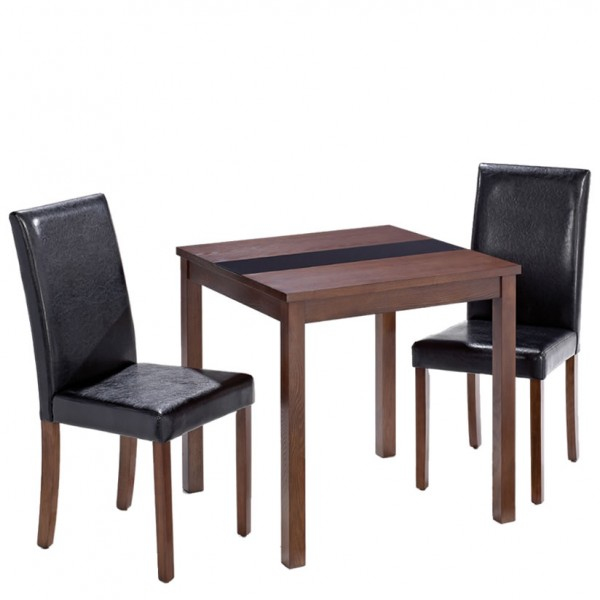 Brisbane Walnut Breakfast Table And Chairs UK Delivery