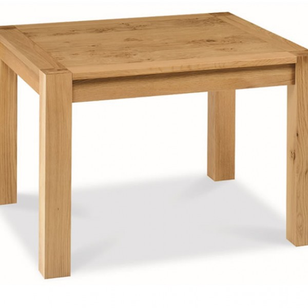 lyon oak 110cm end extending dining table