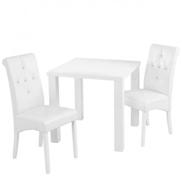 sc 1 st  Frances Hunt & Monroe White High Gloss Small Dining Table and Chairs